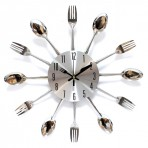 Часы Вилки ложки по кругу металл