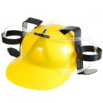 Каска желтая с подставками для банок