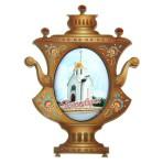 Магнит в форме самовара «Новосибирск»