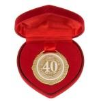 Медаль свадебная в коробочке Сердце