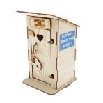 Копилка деревянная «Туалет»