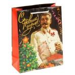 Пакет «С Новым годом! Сталин», 18 × 23 см