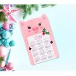 Магнит календарь 2019 Год Свиньи