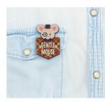 Деревянный значок «Gentle mouse»