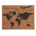 Карта мира настенная пробковая «Поверь в мечту», 40 х 30 см