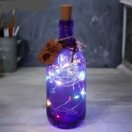 Светильник с гирляндой в бутылке «Чудес»
