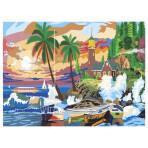 Картина по номерам с акриловыми красками «Райский остров», А3,под заказ
