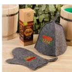 Набор «Директору бани» шапка, рукавица, под заказ
