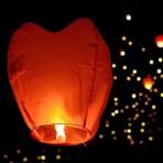 """Небесный фонарик """"Сердце"""", красный"""