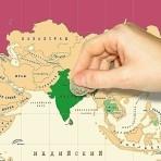 Карта стирательная План покорения мира, в тубусе, 80х60 см