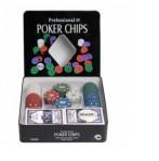 Набор для покера 100 фишек с картами