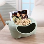 Тарелка для семечек и орешков с подставкой под телефон