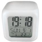Часы-будильник светящийся Кубик
