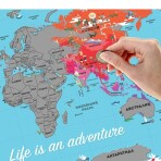 Карта мира со скретч-слоем, 35х25 см