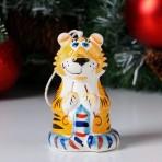 """Колокольчик фарфоровый """"Тигр"""", 10 см"""